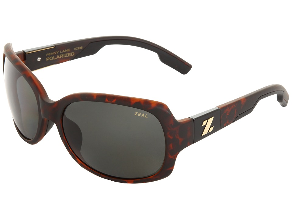 Zeal Optics - Penny Lane Polarized (Matte Demi Tortoise w / Dark Grey Polarized Lens) Sport Sunglasses