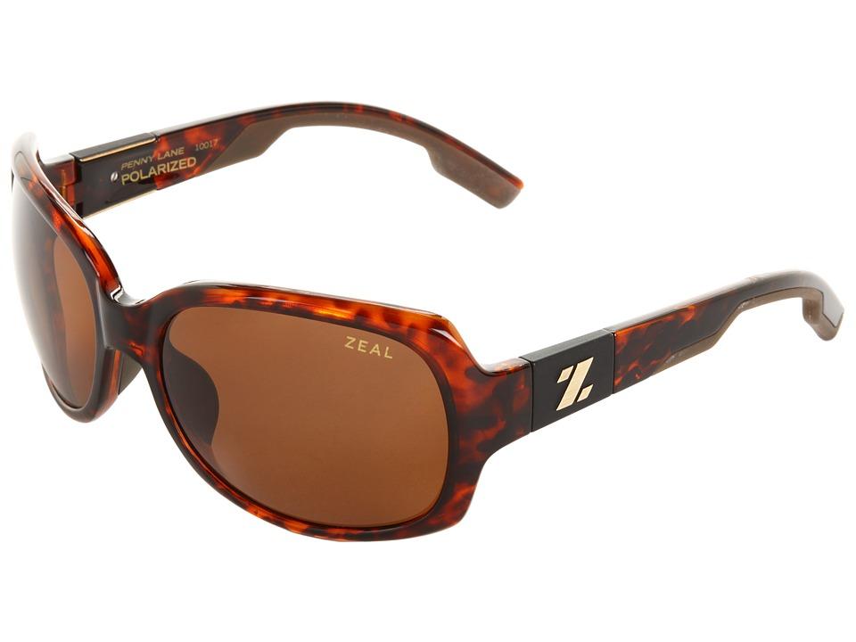Zeal Optics Penny Lane Polarized Demi Tortoise w / Copper Polarized Lens Sport Sunglasses