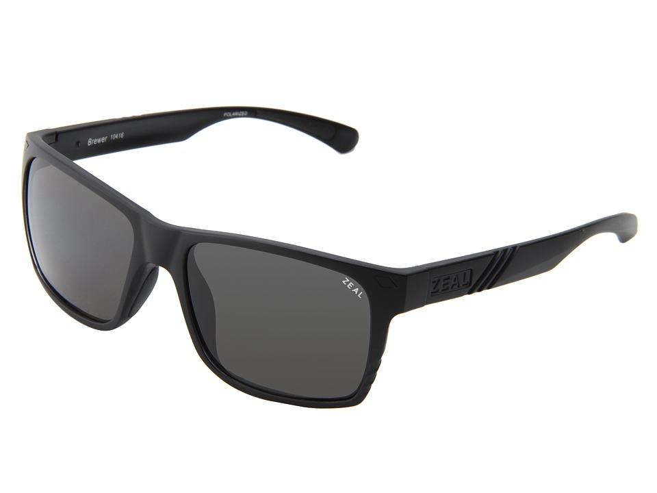 Zeal Optics Brewer Matte Black w / Dark Grey Polarized Lens Sport Sunglasses
