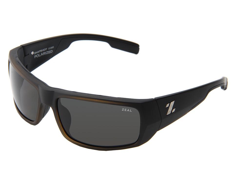 Zeal Optics - Snapshot (Matte Black w / Dark Grey Polarized Lens) Sport Sunglasses