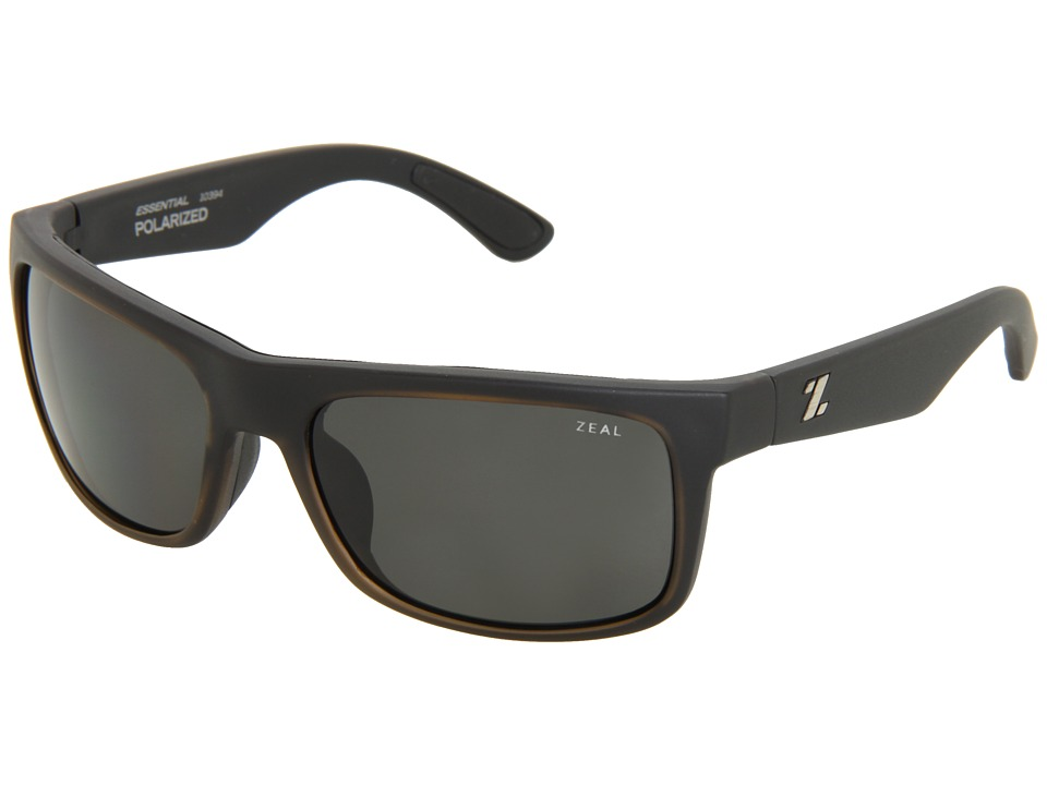 Zeal Optics - Essential Polarized (Matte Black w / Dark Grey Polarized Lens) Sport Sunglasses