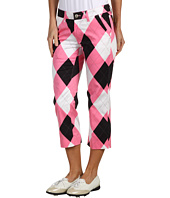 Loudmouth Golf - Pink and Black Capri