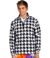 Loudmouth Golf - Oakmont Houndstooth 1/2 Zip Windshirt