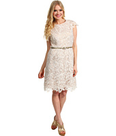 Eliza J - Lace Cap Sleeve Dress w/ Belt