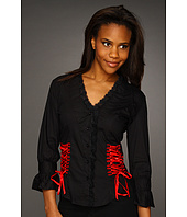 Scully - Lace-Up Back Shirt