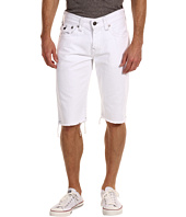 True Religion - Ricky Straight Fit Cut-Off Short in Optic White