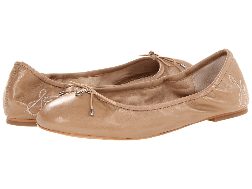 Sam Edelman Felicia Nude Leather Womens Flat Shoes