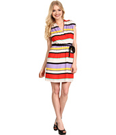 Kensie - Striped Short Sleeve Dress