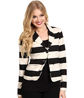 Kensie - Striped Ponte Jacket