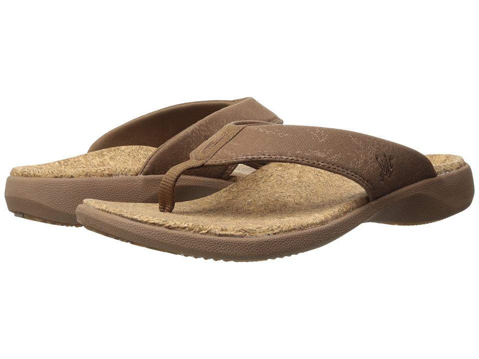 SOLE Cork Flips Bark Mens Toe Open Shoes