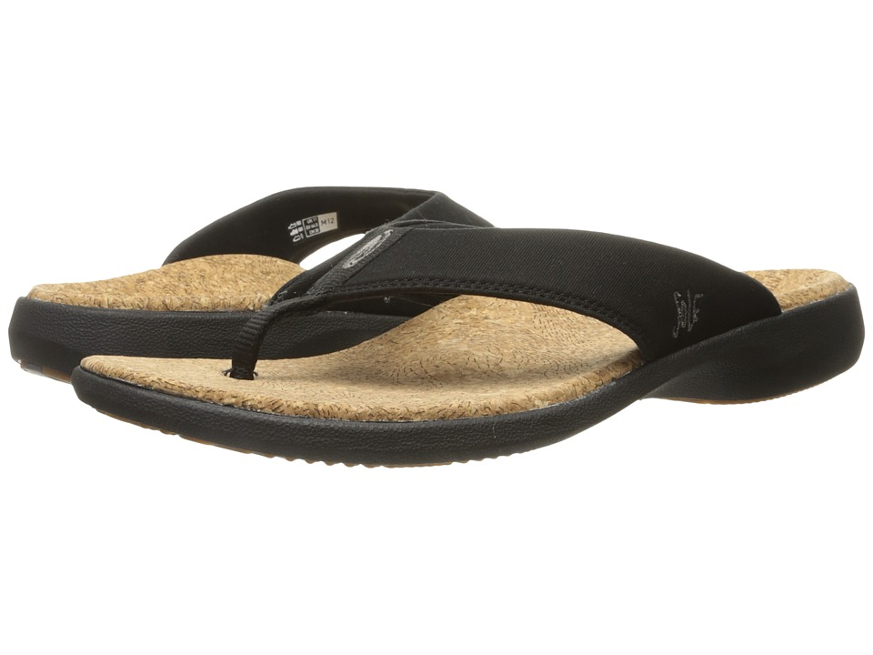 SOLE Cork Flips Coal Mens Toe Open Shoes
