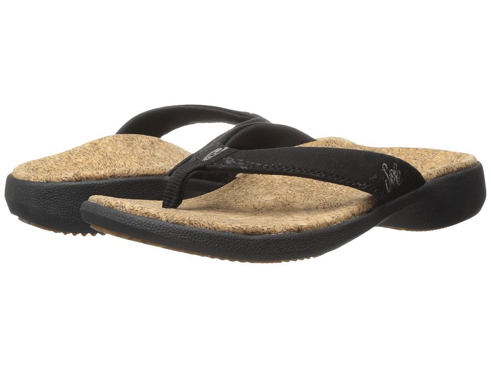 SOLE Cork Flips Coal Womens Toe Open Shoes