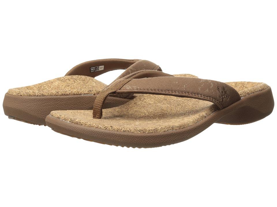 SOLE Cork Flips Bark Womens Toe Open Shoes