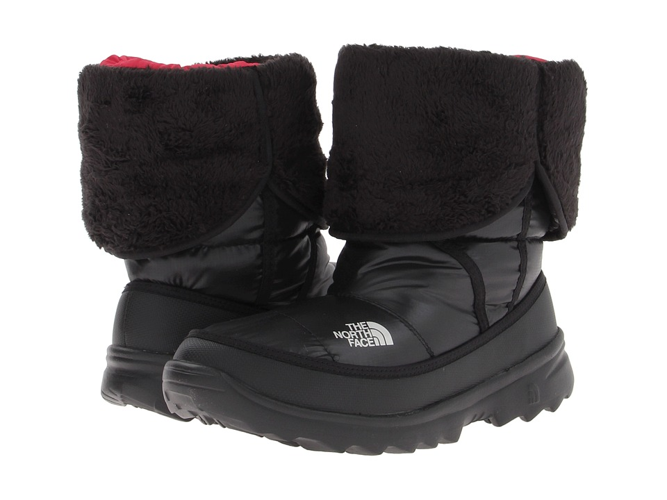 The North Face Kids Amore Little Kid/Big Kid Shiny TNF Black/TNF Black Girls Shoes