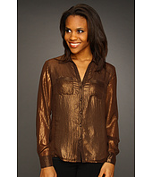 Jones New York - Long Sleeve Double Bust Pocket Blouse