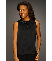 Jones New York - Embellished Neck w/Buttons Top