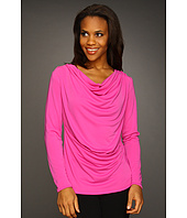 Jones New York - L/S Drape Neck Top
