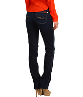 7 For All Mankind - Kimmie Straight Leg w/ Contoured Waistband in Black Night