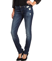 7 For All Mankind - Roxanne Skinny in Rich Dark Destroyed