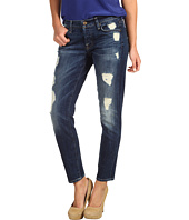 7 For All Mankind - Josefina Skinny Boyfriend in Rich Dark Destroyed