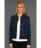 7 For All Mankind - Denim Jacket w/o Holes in Rich Dark Destroyed