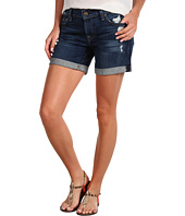 7 For All Mankind - Mid Roll-Up Short in Rich Dark Destroyed