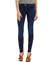 7 For All Mankind - Mid-Rise Skinny in Deep Blue Stretch