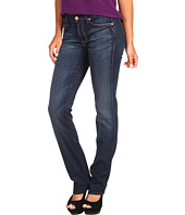 7 For All Mankind - Kimmie Straight w/ Contoured Waistband in Genuine Dark Blue