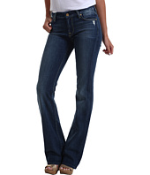 7 For All Mankind - Kimmie Bootcut w/ Contoured Waistband in Grinded Blue