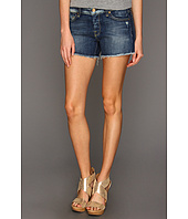 7 For All Mankind - Josefina Cut-Off Short in Grinded Blue