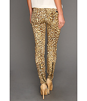 7 For All Mankind - The Slim Cigarette w/ Zips in Cheetah Print