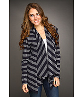 Jones New York - Long Sleeve Drape Front Cardigan