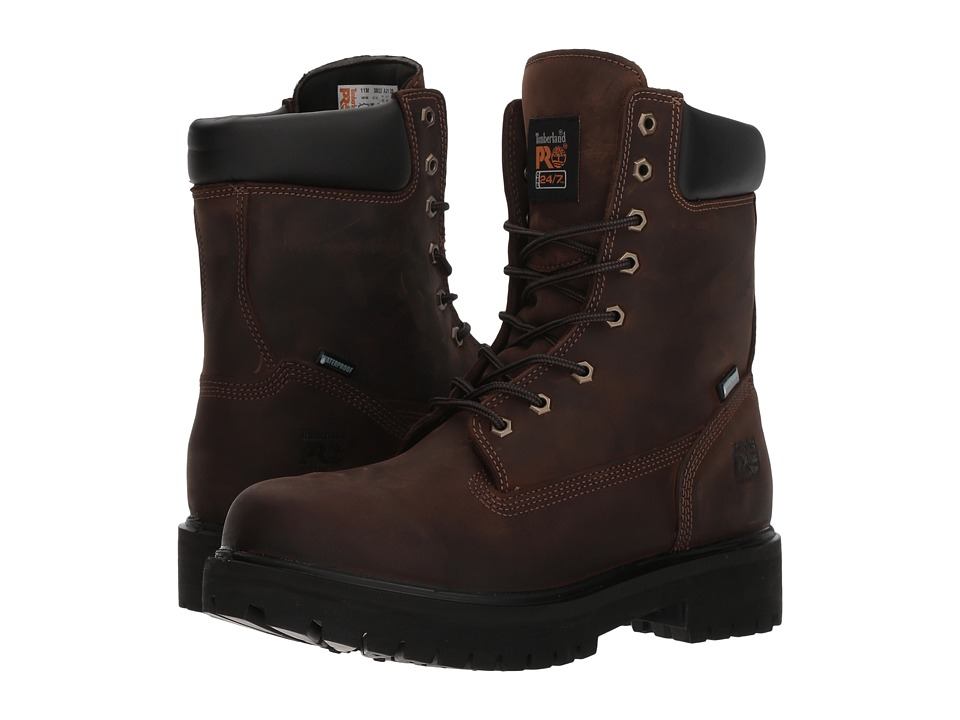 Timberland PRO - Direct Attach 8 Soft Toe (Brown Oiled Full-Grain Leather) Mens Work Lace-up Boots