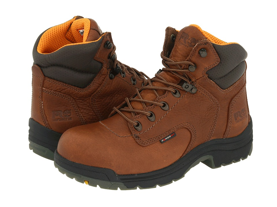 Timberland PRO - TITAN(r) 6 Alloy Safety Toe (Coffee Full-Grain Leather) Womens Work Boots