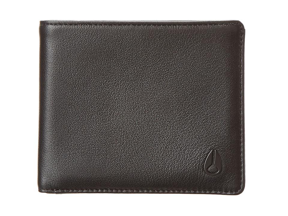 Nixon - Satellite Big Bill Bi-Fold ID (All Black) Bi-fold Wallet