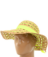Betsey Johnson - Straw and Ribbon Floppy Hat