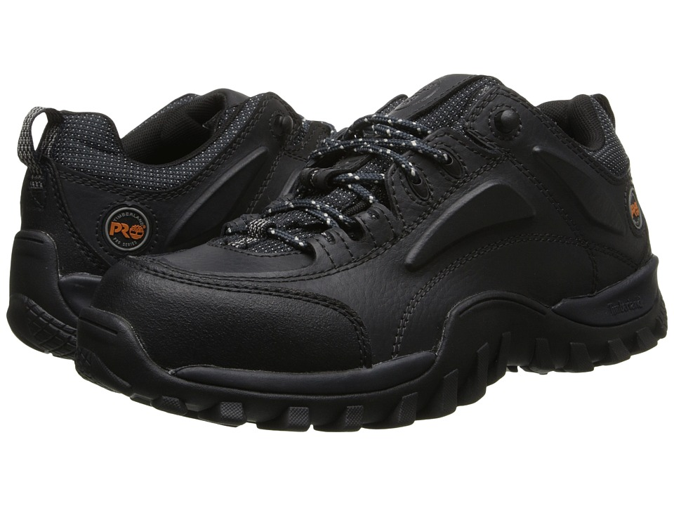 Timberland PRO - Mudsill Low Steel Toe (Grease Black Oiled) Mens Industrial Shoes