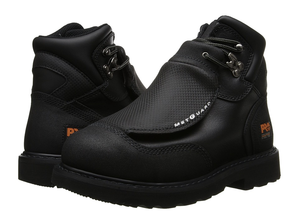 Timberland PRO - Met Guard 6 Steel Toe (Black Ever-Guard Leather) Men