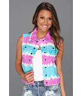Catherine Malandrino - Tye-Dye Leather Vest