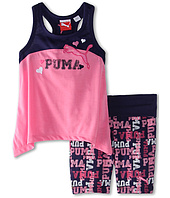 Puma Kids - Puma Printed Biker Short Set (Little Kids)