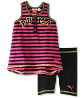 Puma Kids - Stripe Henley Tank Set (Infant)