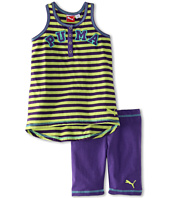 Puma Kids - Stripe Henley Tank Set (Toddler)