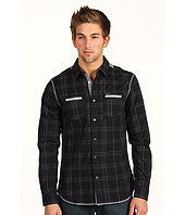 Marc Ecko Cut & Sew - L/S 2 Pocket Dobby Plaid Shirt