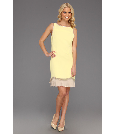 Cheap Mark James By Badgley Mischka Mark James Pleated Hem Shift Lemon