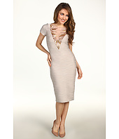 Badgley Mischka - Mark & James Beaded V-Neck Dress
