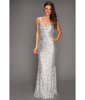 Badgley Mischka - Mark & James Sequined Rouched Front Gown