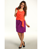 Suzi Chin for Maggy Boutique - Sleeveless Drape Neck Side Knot Dress