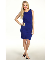 Suzi Chin for Maggy Boutique - Sleeveless Drape Tier Sheath Dress