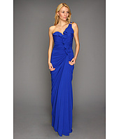 Badgley Mischka - One-Shoulder Ruffle Gown