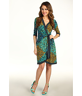 BCBGMAXAZRIA - Petite Adele Mixed Print Wrap Dress